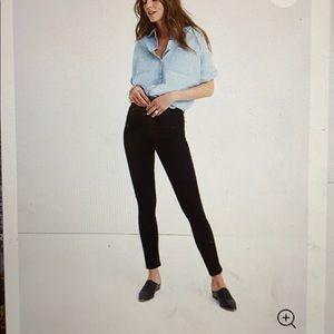 "Madewell 10"" high-rise skinny jeans black"